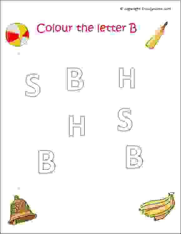 Preschool English Alphabet Worksheets, English Worksheets For