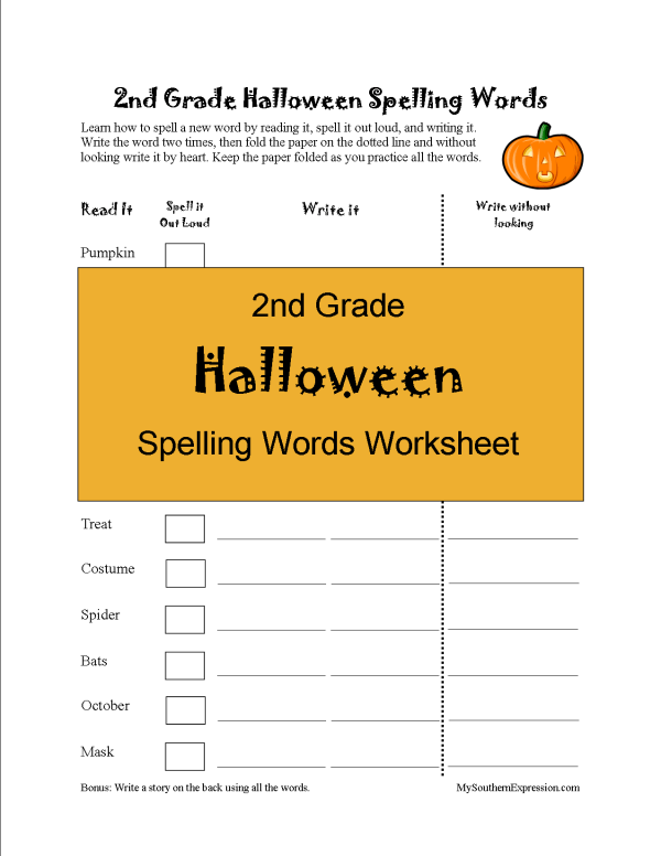2nd Grade Spelling Words Worksheet Is Right On Time And Fun For