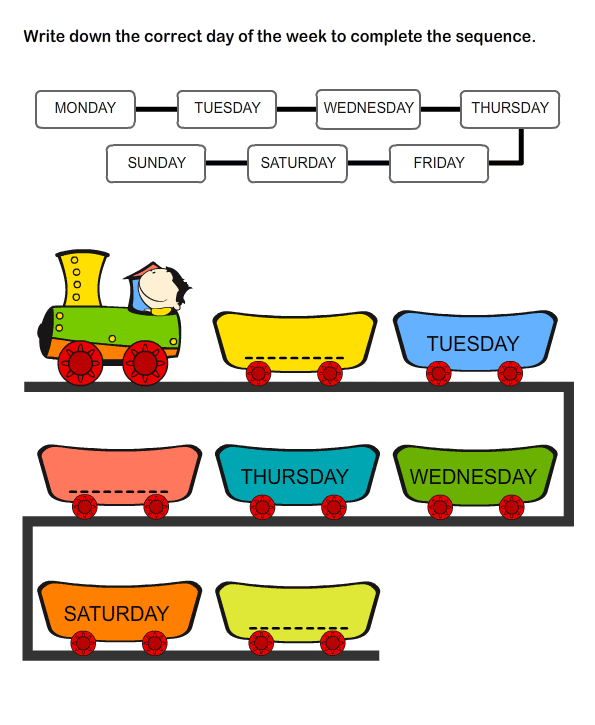Days Of The Week Worksheets For Preschool And Kindergarten This