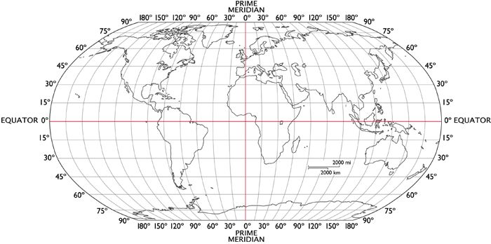 World Map With Latitude Longitude Lines