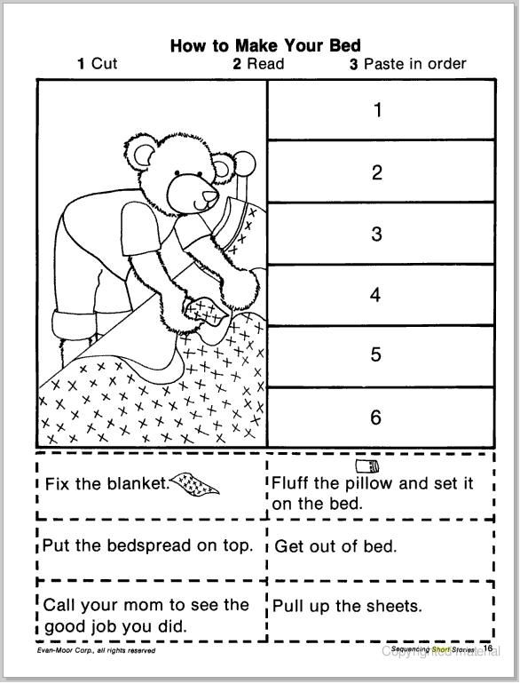 Cut And Paste Sequencing Worksheets  1