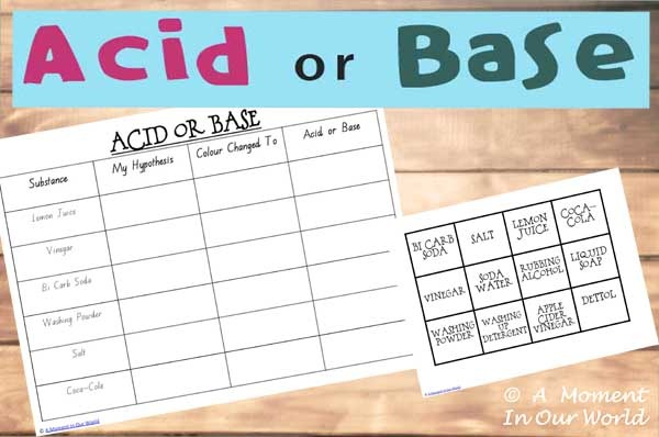 Acid Or Base Worksheet