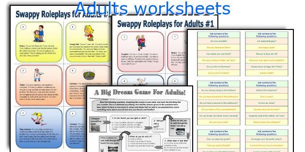 Adults Worksheets Worksheets