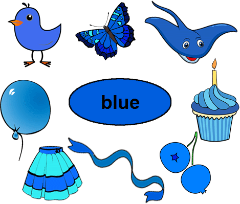 Color Blue Worksheets For Kindergarten