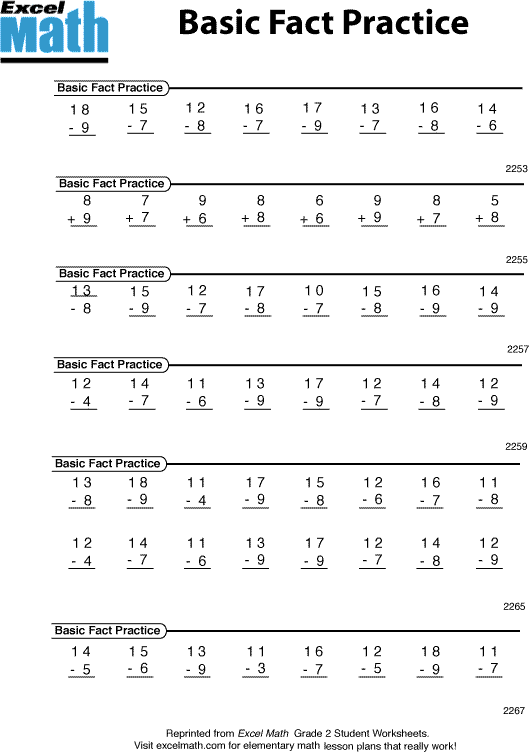 Basic Math Practice Worksheets Worksheets For All