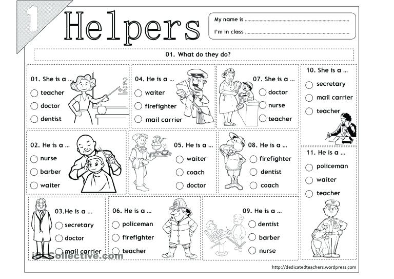 Complex Community Helpers Worksheets Free Worksheet Pdf