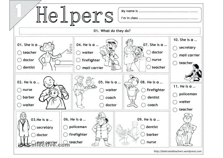 Complex Community Helpers Worksheets Free Worksheet Pdf