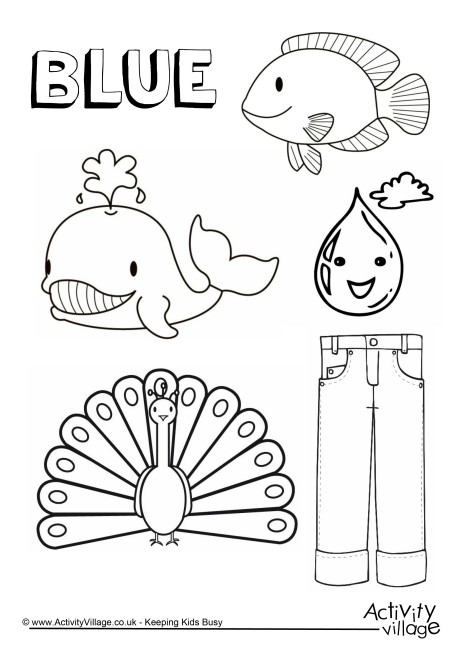 Blue Coloring Sheet Books About The Color Blue Coloring Page Ides