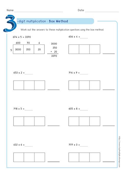 Box Method Multiplication 3