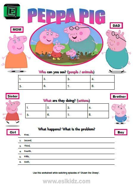 Peppa Pig Worksheet