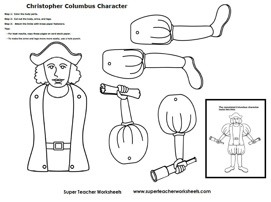Christopher Columbus Worksheets Kindergarten Christopher Columbus