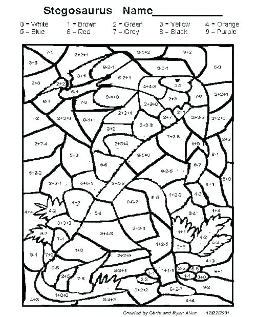 Free Color By Number Math Worksheets – Xuger Info
