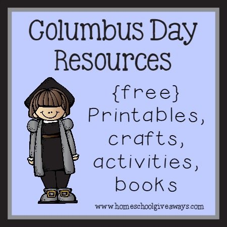 Columbus Day Resources  {free} Printables, Crafts, Activities & Books