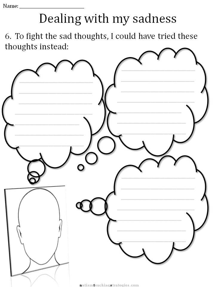 Depression Worksheets For Kids