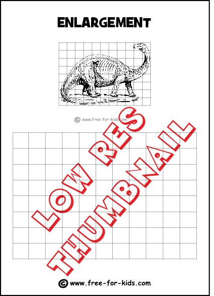 Drawing Grid Enlargement Worksheets For Kids