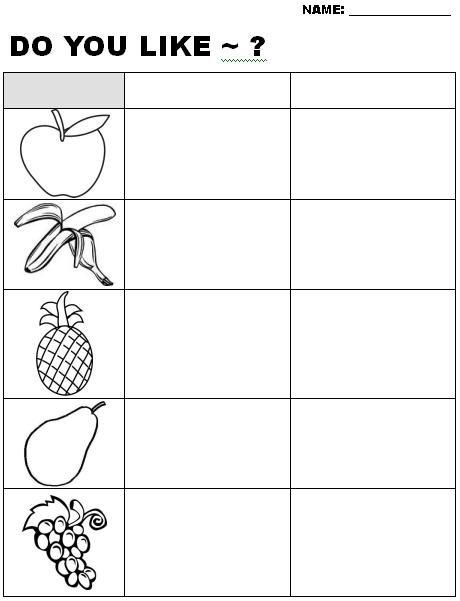 Do You Like   Fruit Esl Worksheet (beginner   Elementary Level) Efl