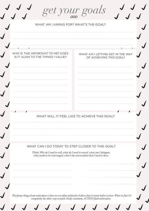 Download  Move Nourish Believe Goal Setting Worksheet