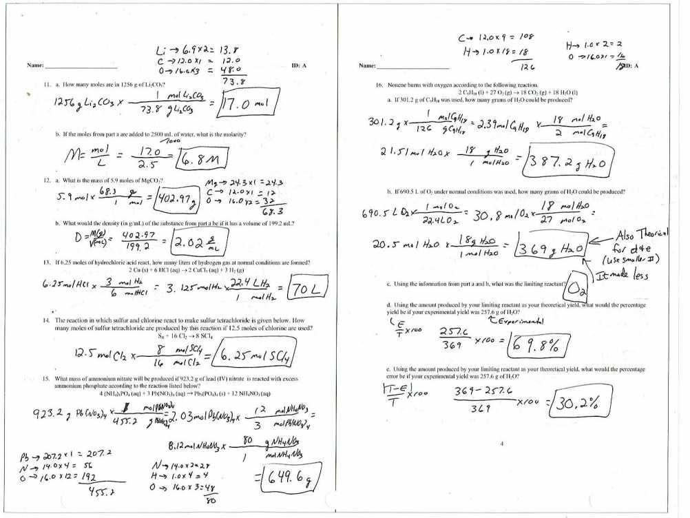 Molecular Formulas Worksheet Gallery