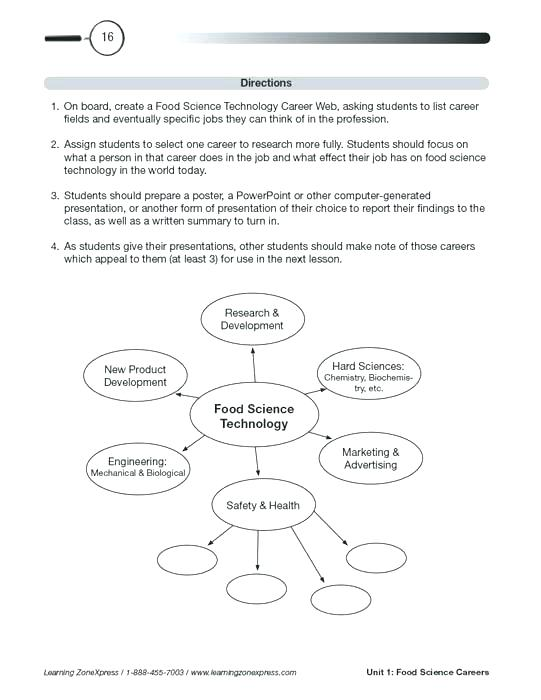 Food Technology Worksheets – Paigeelizabeth Info