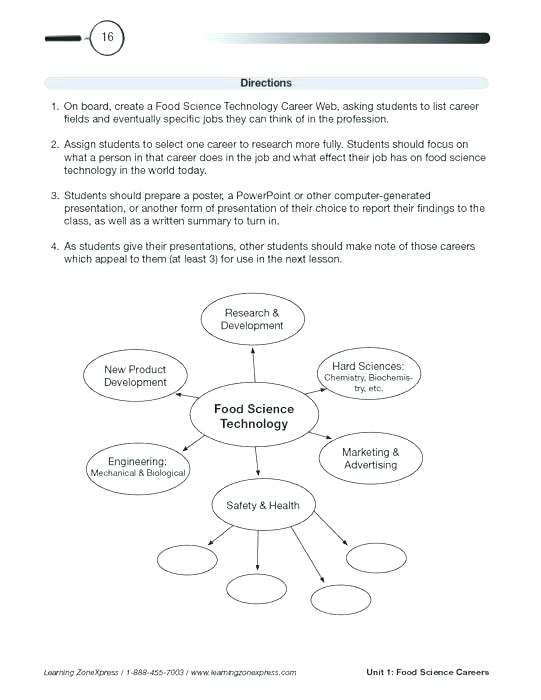 Food Technology Worksheets – Postjoint