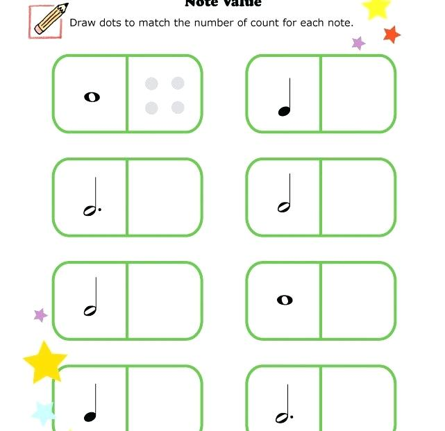 Free Music Theory Worksheets Printable Awesome Note Values Value