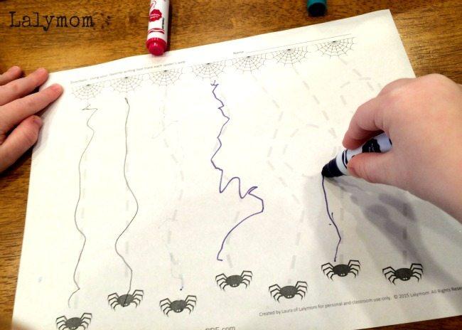 Silly Spiderwebs Free Printable Halloween Worksheets