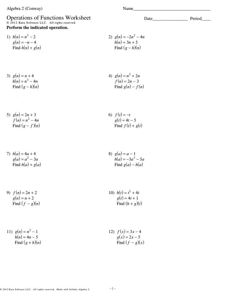 Function Worksheet Kuta