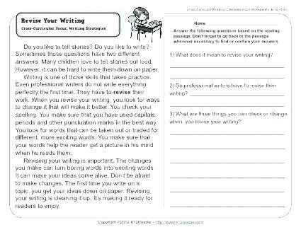 Grade Writing Worksheets 2nd Grade Reading Writing Worksheets