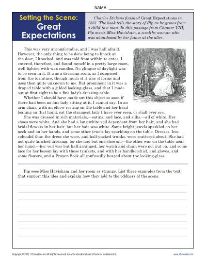 Setting The Scene  Great Expectations