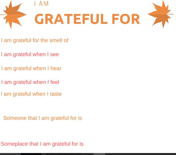 Gratitude Worksheets For Adults