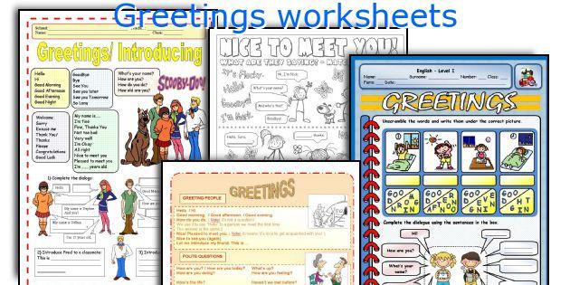Greetings Worksheets