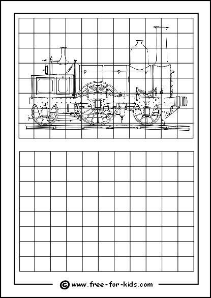 Grid Enlargement Drawing Practice Worksheets Worksheets For All
