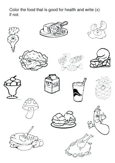 Healthy Food Printables For Preschool Healthy Food Coloring Pages