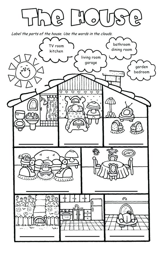 Furniture And Parts Of The House Flashcards Worksheet Free