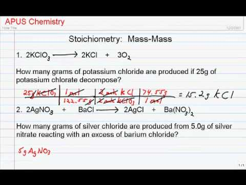 Stoichiometry  Mass