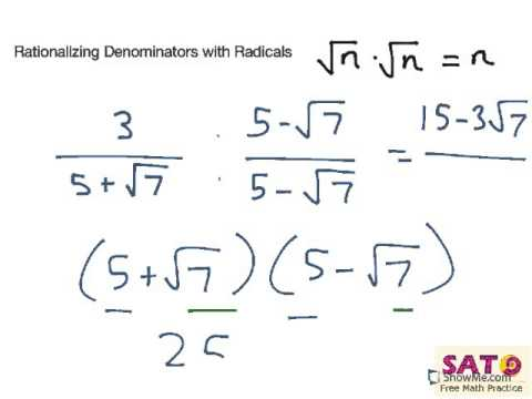 Rationalizing Denominators With Radicals
