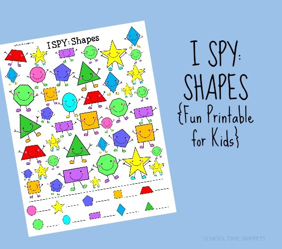 Shapes I Spy {free Printable}