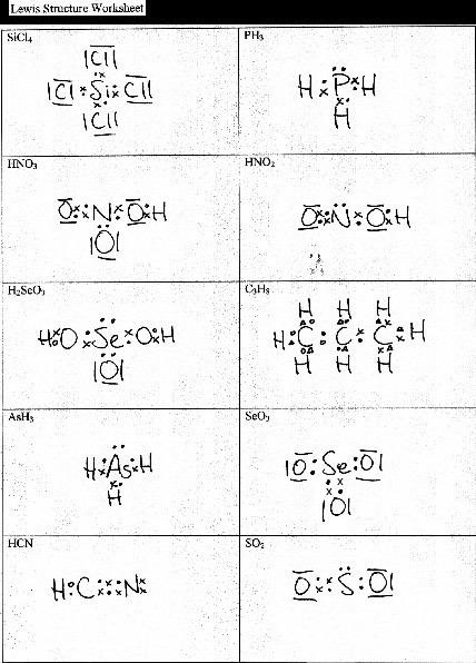 Lewis Dot Diagrams Worksheet Worksheets For All