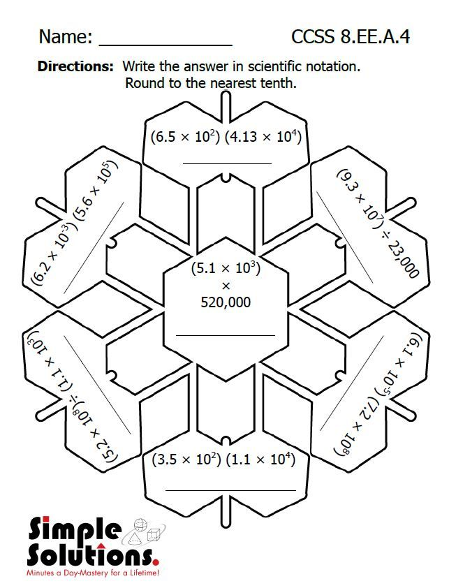 Math Puzzle Worksheets For 8th Graders  1332124