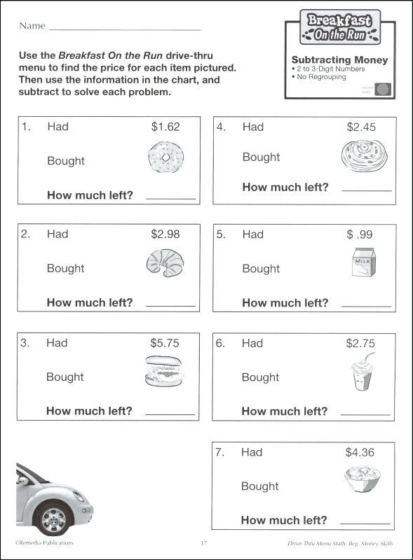 Drive Thru Menu Math Instruction Mathematics Learning More Views