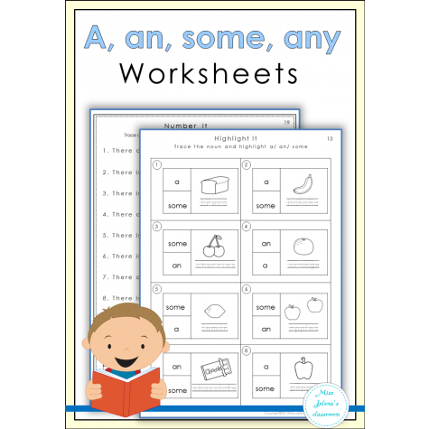 A, An , Some, Any Worksheets