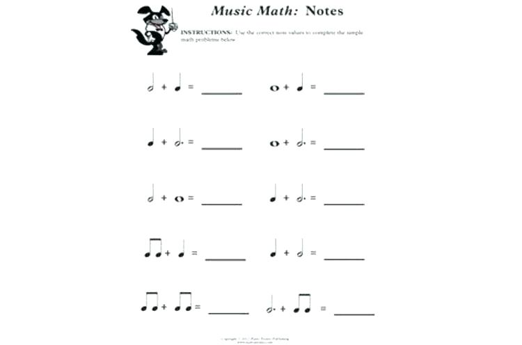 Musical Math Worksheets Activities The Best Image Collection Music