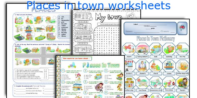 Places In Town Worksheets