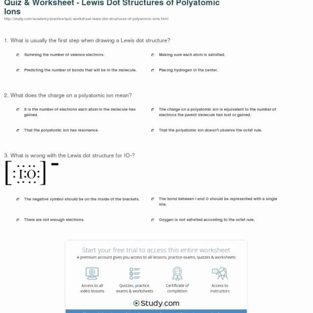Pogil Activities For High School Chemistry Polyatomic Ions Answers
