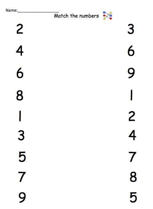 Preschool Worksheets Numbers 1 10 Worksheets For All