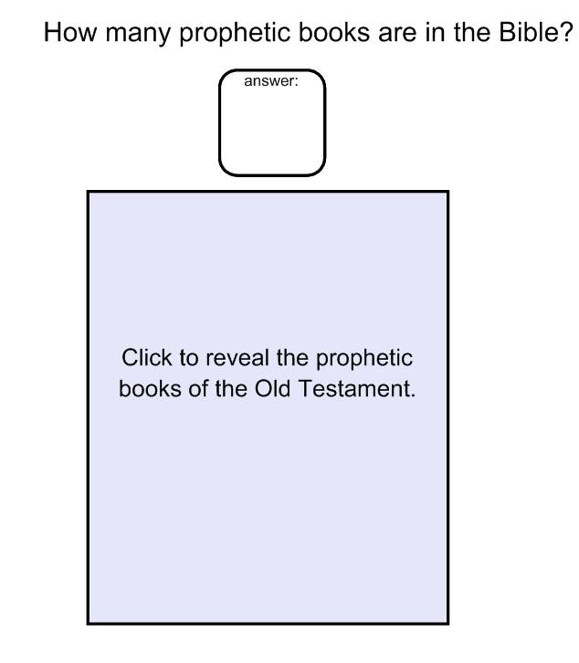 Prophets Lesson Plan