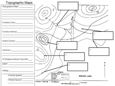 Reading Topographic Maps Worksheet Worksheets For All