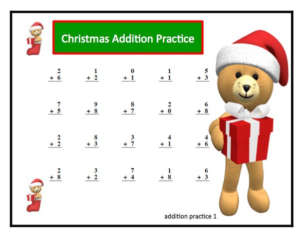 Christmas Addition And Subtraction Basic Facts