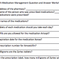 Medication Management Worksheets