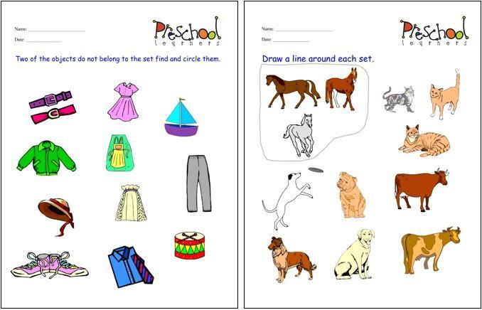 Sets Worksheets Worksheets For All